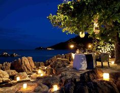 Romantic Dinner Four Seasons Koh Samui Thailand