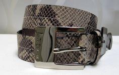 MICHAEL KORS Women's Leather Snakeskin Printed Belt 555120 Size M