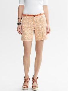 I need these for summer! Heritage Zebra Short from Banana Republic