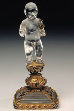 Christ Child, second half of the 16th century  Carved rock crystal; gold mounts set with rubies and sapphires.  Height 13.7 cm