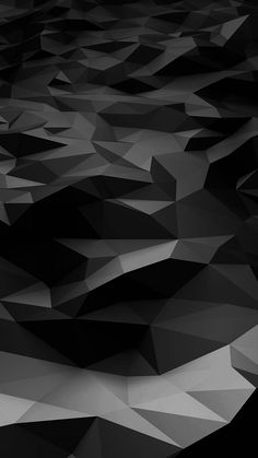 Low Poly Art Dark Bw Pattern iPhone 6 wallpaper