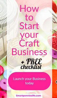 How about a free planner for starting a craft business? Free Printable Business Startup Checklist for Launching Your Creative business today. Selling Crafts Online, Craft Online, Writing A Business Plan, Start Up Business, Business Coaching, Business Help, Business Marketing, Hobbies That Make Money, How To Make Money