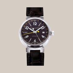 Tambour GMT automatique brun, 39,5 mm - Horlogerie   LOUISVUITTON.FR