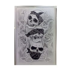 skulls Tattoo Picture ❤ liked on Polyvore