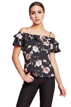 2a7c3dc2cfb47 cold shoulder. Spring BlossomFloral Cold Shoulder TopOff Shoulder BlouseCatsuitClub  Party DressesShort ...
