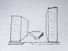Esboço do projeto arquitetônico de Oscar Niemeyer.    Acesse a FGV no Facebook:  http://www.facebook.com/fgv.oficial