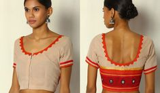 The importance of a well fitted and beautiful patchwork blouse is well known to every woman familiar with sarees. A saree can never look the best unless it is paired with the right blouse. Patch Work Blouse Designs, Blouse Back Neck Designs, New Blouse Designs, Princess Cut Blouse, Net Blouses, Floral Patches, Blouse Models, Net Saree, Party Wear
