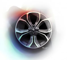 Peugeot 208 - Wheel Design Sketch