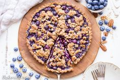 This Blueberry Crisp Tart with Oat Crust comes together quickly and is the perfect use of your fresh blueberries! It's also gluten-free & vegan!