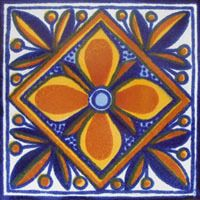 hand painted mexican tiles.