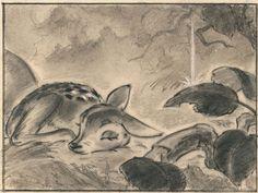 Visual development art from Bambi, Bambi Disney, Disney Fan Art, Disney Concept Art, Studio Ghibli, Dreamworks, Bambi Art, Disney Movies To Watch, Disney Sketches, Animal Sketches