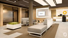 """Wie verpackt man traditionelle Werte in einem modernen Gewand? Mit der offenen Filialarchitektur und digitalen Bankingangeboten legt das neue Filialkonzept der Commerzbank seinen Fokus auf die Bedürfnisse der Kunden. """"Bank neu denken"""" - so lautete die Idee und Inspiration für das Filialdesign der Commerzbank. Form, Farbe und Materialsprache bilden einen klaren und spannungsreichen Raum mit individuell wohnlicher Atmosphäre. So schafft es die Commerzbank, ihren Claim """"Die Bank an Ihrer…"""