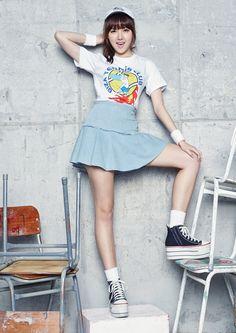 Yerin (G-Friend) - MAPS Magazine October Issue '15 Cloud Dancer, G Friend, Korean Singer, Ultra Violet, Kpop Girls, Girl Group, Asian Girl, Ballet Skirt, Photoshoot