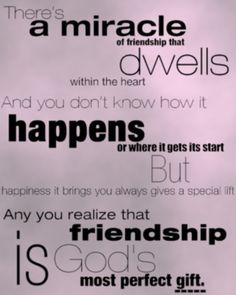 A Miracle of Friendship...♥