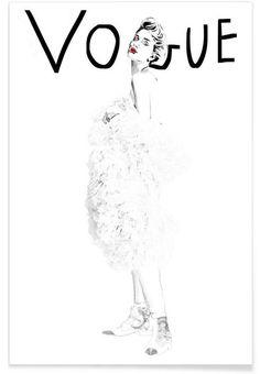 vogue als Premium Poster von Magdalena Marcinkowska | JUNIQE