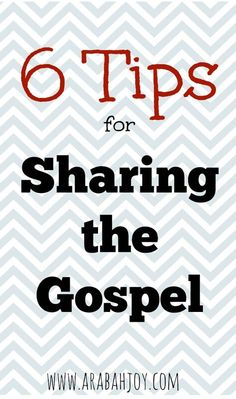 Are you a Christian but not sure how to go about sharing your faith? Here missionary and author Arabah Joy shares 6 tips for sharing the gospel and invites you to join her in setting your own personal evangelism goal. Lots of hand holding here and a place to be encouraged as you grow in sharing your faith. You can do this!