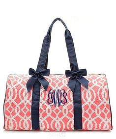 "Personalized Quilted Duffle Bag 21"" Weekender Tote - Gifts Happen Here - 38"