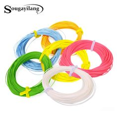 Sougayilang Floating Fly Fishing Cord Weight Forward Fly Line 6 Colors Polyethylene Fly Fishing Line - Fishing Equipments Fly Fishing Line, Fishing Boats, Ocean Rocks, Fishing Equipment, Ocean Beach, West Union, Blue Yellow, Orange, Credit Cards