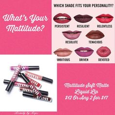 Instantly command attention when rocking any of the 8 long-lasting shades that leave a velvety soft finish and a powerful impression. What's your Mattitude? Avon Lipstick, Liquid Lipstick, Skin Care Regimen, Skin Care Tips, Hand Tricks, Oil Free Makeup, Smooth Lips, Lots Of Makeup, Perfectly Posh