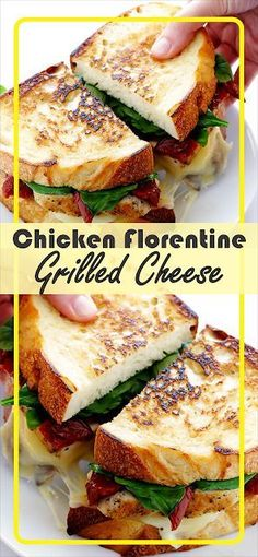 This time we'll Shàre the recipe how to màke delicious Chicken Florentine Grilled Cheese. Grill Sandwich, Soup And Sandwich, Veggie Sandwich, Healthy Sandwich Recipes, Chicken Sandwich Recipes, Grilled Cheese Recipes, Grilled Cheeses, Burger Recipes, La Florentine