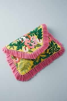 Discover unique Clutch Bags at Anthropologie, including the seasons newest arrivals. Craft Bags, Fabric Bags, Winter Accessories, Cross Stitch Embroidery, Designing Women, Diy Fashion, Color Splash, Clutch Bag, Ibiza