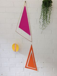 Large Geometric Copper Wall Hanging by InTheMakingMade on Etsy