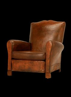 1930's French club leather chair - perfect for spending time with a good book and a bourbon.