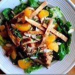 Copycat Panera Asian Sesame Chicken Salad.  I enjoy a mandarin orange or two on my salad.  #iowagirleats