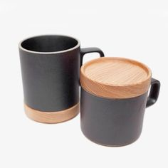 Hasami Wooden Mug Coaster and Lid