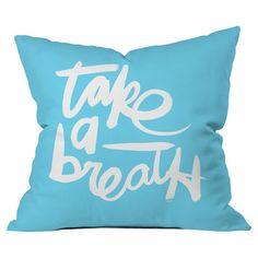 Kal Barteski Take Blue Throw Pillow