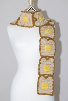 0_0 i want!!!!  Buttered Toast Scarf by Gitanaflipflops on Etsy, $140.00