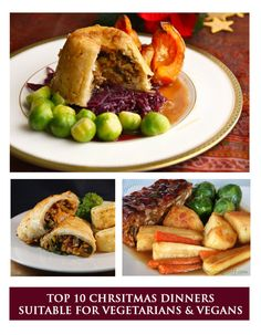 CHRISTMAS DINNER RECIPES | Top 10 Christmas Dinner Recipes for Vegetarians and Vegans