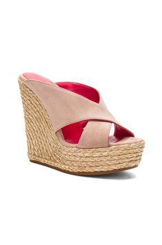 Shop for Pura Lopez Mule Wedge in Face Suede at REVOLVE. Wedge Mules, Wedge Sandals, Pura Lopez, Revolve Clothing, Espadrilles, Footwear, Wedges, Glamour, Heels