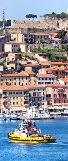 View of Portoferraio old city, with the Forte Stella and the Napoleon Villa. Isle of Elba, Livorno, Italy. | 45 Reasons why Italy is One of the most Visited Countries in the World