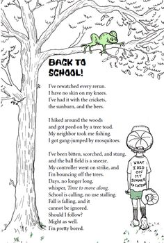 Sara Holbrook back to school poem                              …