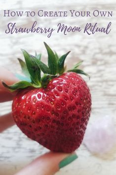 How to Create Your Own Strawberry Moon Ritual - The Witch of Lupine Hollow Full Strawberry Moon, Strawberry Drawing, Strawberry Shortcake Cartoon, Strawberry Art, Strawberry Garden, Spinach Strawberry Salad, Strawberry Banana Smoothie, Strawberry Plants, Strawberry Recipes