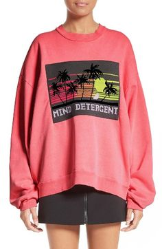 Free shipping and returns on Alexander Wang Embroidered Patch Sweatshirt at Nordstrom.com. Pre-order this style from the Spring 2017 collection! Limited quantities. Ships as soon as available. You'll be charged only when your item ships.The epitome of fashion-meets-California cool, this oversized fleece sweatshirt in a vibrant shade of sunset pink is topped with a beautifully embroidered patch that touts the cleansing benefits of the ocean.