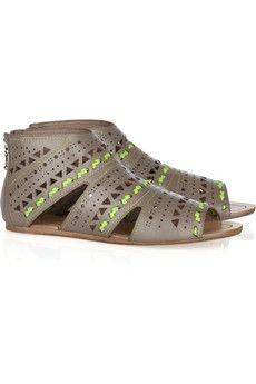 Belle Sigerson Morrison  Laser-cut leather sandals