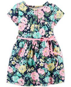 Carter's Toddler Girls' Short-Sleeve Floral-Print Dress