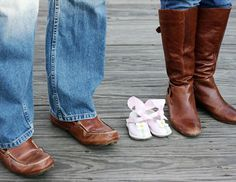 Take a shoe shot and add baby-to-be's shoes too. It's a different take on a maternity photo -- bump not pictured. Submitted by Ashlee B. www.thebump.com