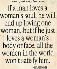 Loves a women- Love Quotes