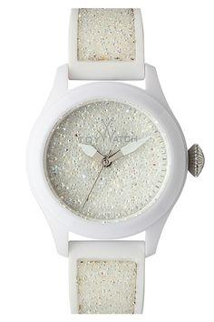 Women's Glitter Silicone Strap Watch