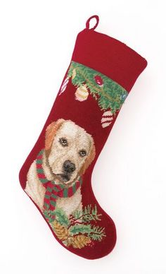 Needlepoint Dog Breed Christmas Stockings - Dog Chic Boutique  Lab Lovers, this is for you! http://store.dogchicboutique.com/needlepoint-dog-breed-christmas-stockings $37.75