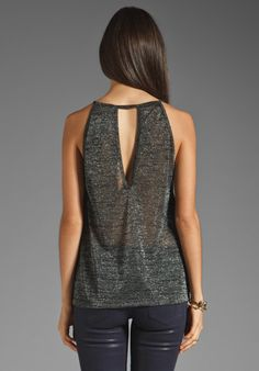 BLUE LIFE Lock N' Keyhole Top in Black/Silver at Revolve Clothing - Free Shipping!