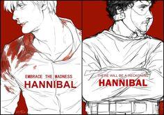 Hannibal by kanapy-art.deviantart.com on @deviantART ------------------------------------------------------- I'm not really a Hannibal fan...yet....but I really like the art style here :)