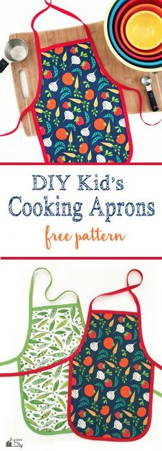 DIY-Kid's-Cooking-Apron-with-free-pattern!