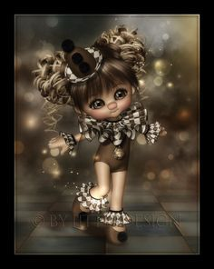 LittleDesign: A little dance. Little Girl Pictures, Cute Little Girls, Cute Cartoon Pictures, Cartoon Pics, Rockabilly Artwork, Gothic Fantasy Art, Fairy Pictures, Witch Pictures, My Fantasy World