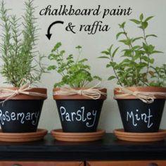 Pretty herb pots