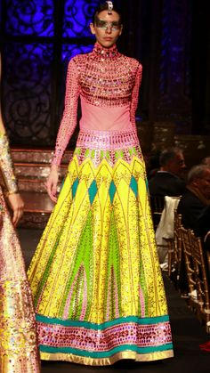 """A blast of colour with this design from the new collection, """"India"""", from Mannish Arora in NYC. Manisharora.com"""