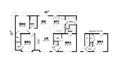 Gordon Floorplan of American Lifestyle Collection - Modular Home - All American Homes